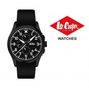 Relógio Lee Cooper® Bracelete em Pele Genuína LC-49G-B | 5ATM