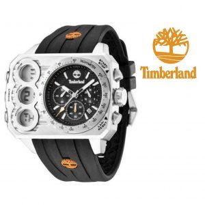 Relógio Timberland® HT3 Chronograph Digital | Analógico Cinza | Bracelete Silicone Preta