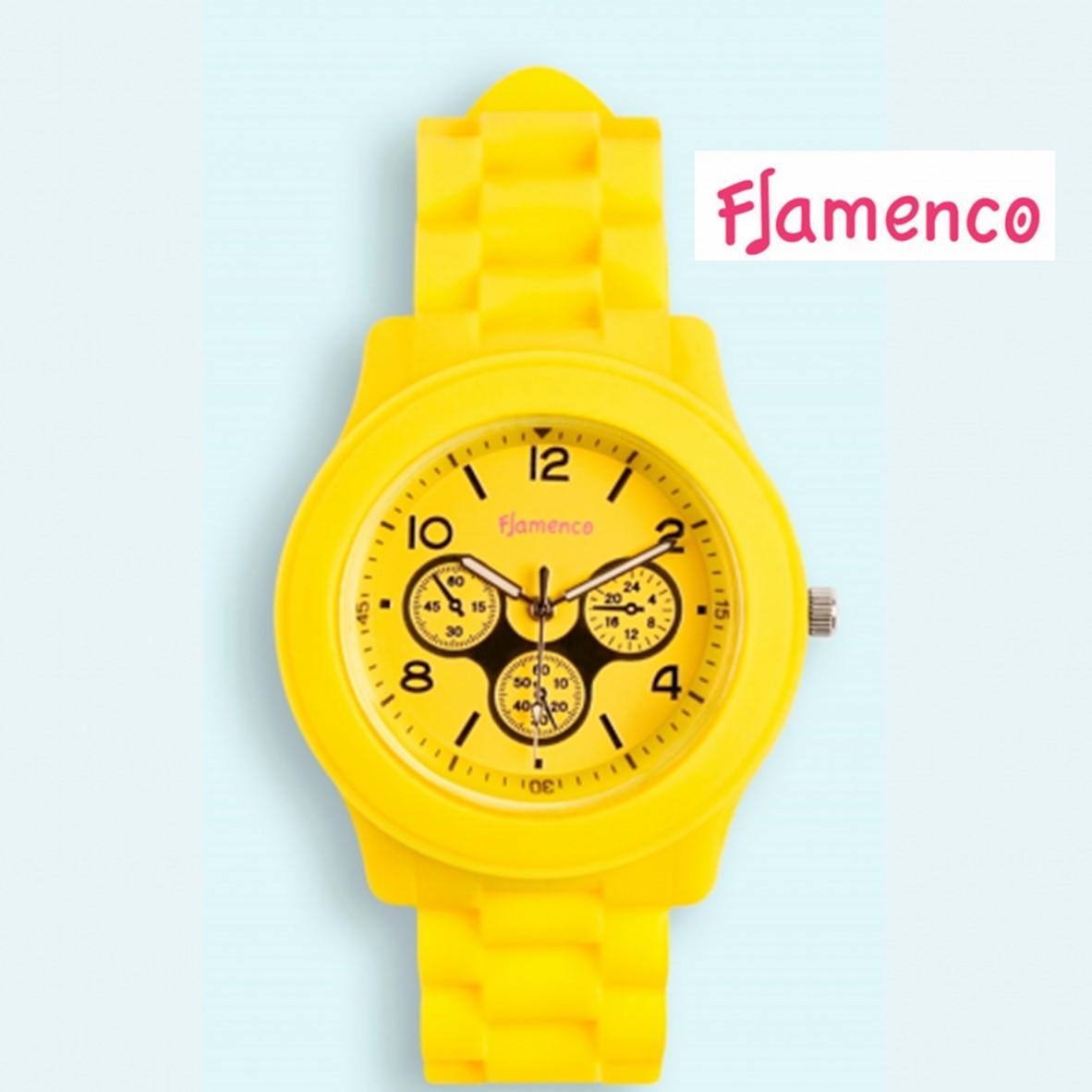 ec54cdee8241 Reloj Flamenco Amarillo Sumergible
