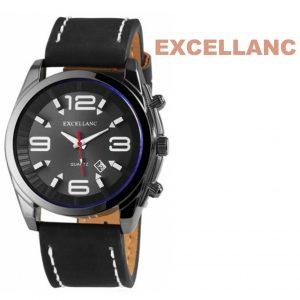 Relógio Excellanc Mostrador Preto I Branco I Data | Movimento Quartzo de Alta Qualidade