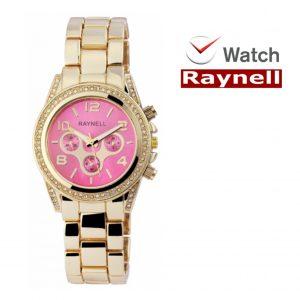 Relógio Raynell Woman   Mostrador Rosa   Movimento Quartzo de Alta Qualidade