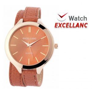 Relógio Excellanc Woman Castanho I Movimento Quartzo de Alta Qualidade