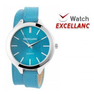 Relógio Excellanc Woman Azul Claro I Movimento Quartzo de Alta Qualidade