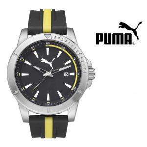 Puma® Bracelete Silicone Preta e Amarela | 5ATM