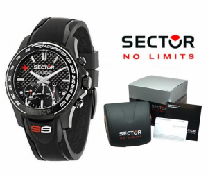 Relógio Sector® Men´s Racing S-99 | Bracelete Silicone Preta