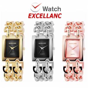 Relógio Excellanc Woman Mostrador Preto I Rosa Golden I Movimento Quartzo de Alta Qualidade