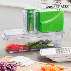 Always Fresh Kitchen | Cortador Elétrico de Legumes 8 em 1