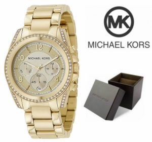 Relógio Michael Kors® Blair Glitz Dourado Cronógrafo