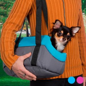 Transportadora em 2 Cores Azul ou Rosa em Tecido Para Animais | Ideal Para Cães e Gatos Pequenos