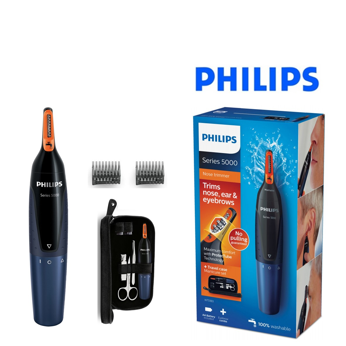 c42bf6d5c Recortadora Philips NT5180/15 Series 3000 Nosetrimmer - You Like It