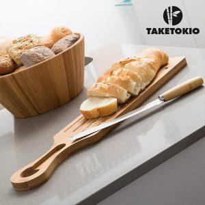TakeTokio | Tábua e Faca Para Cortar Pão Em Bambú