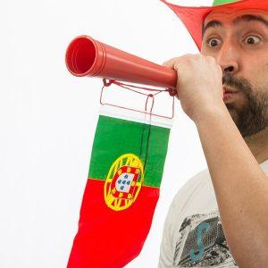 Portugal Trompete com Bandeira