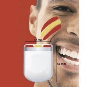 Pintura Facial Bandeira Espanhola