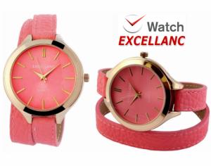 Relógio Excellanc Woman Rosa   Movimento Quartzo de Alta Qualidade