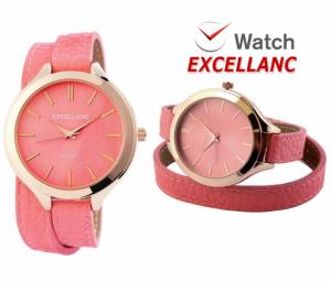 Relógio Excellanc Woman Rosa Claro  Bege I Movimento Quartzo de Alta Qualidade