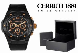 Relógio Cerruti 1881® Preto & Dourado Cronógrafo | 5ATM