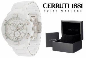 Relógio Cerruti 1881®  Branco Cronógrafo | 5ATM