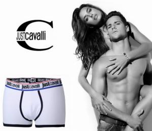 Just Cavalli® Boxers B1100 Branco | Azul