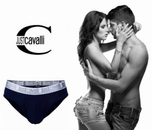 Preço Especial - Just Cavalli® Slip A0900 Azul