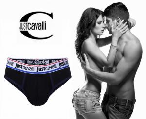 Preço Especial - Just Cavalli® Slip B0900 Preto | Azul