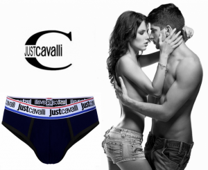 Preço Especial - Just Cavalli® Slip B0900 Azul | Preto