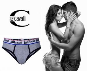 Preço Especial - Just Cavalli® Slip B0900 Cinza | Azul