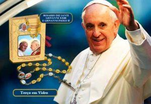 Terço Religioso | Coleção Papa Francisco | Rosario dos Santos João XVIII e do João Paulo II