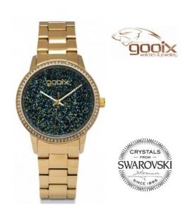 Relógio Gooix®  Glemma Dourado | Cristais Swarovski | 5ATM