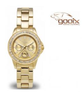 Relógio Gooix® Adissa Bling Dourado | 5ATM