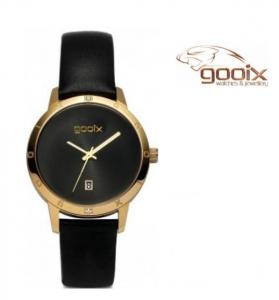 Relógio Gooix® Venil Preto e Dourado | 5ATM