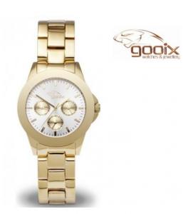 Relógio Gooix®  Adiss Classic Dourado | Mostrador Branco | 5ATM