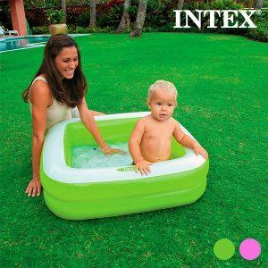 Piscina Insuflável Quadrada para Crianças | Verde ou Rosa