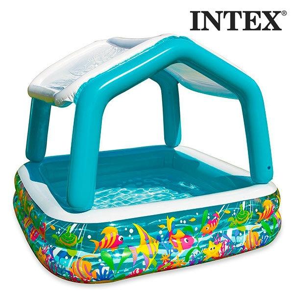 Piscina insufl vel com guarda sol you like it for Auriculares para piscina