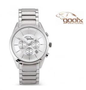 Relógio Gooix® Richard Prateado | Cronógrafo | 5ATM