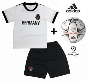 Adidas Mini Bola Oficial + Conjunto Alemanha Réplica Camisola E Calções Criança