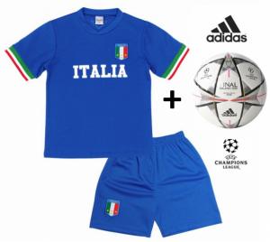 Adidas Bola Oficial + Conjunto Itália Réplica Camisola E Calções Criança
