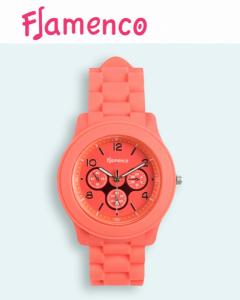 Relógio Flamenco Coral Submersível | 3 ATM