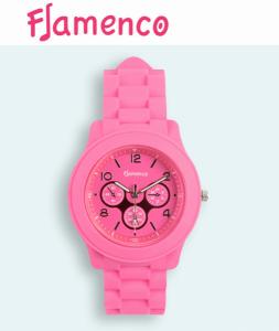 Relógio Flamenco Rosa Submersível | 3 ATM