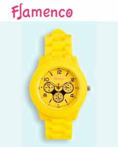 Relógio Flamenco Amarelo Submersível | 3 ATM