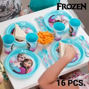 Frozen | Louça Infantil Com 16 Peças | Produto Licenciado