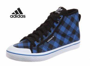 Adidas® Sapatilhas Honey Mid W | Padrão Xadrez Azul e Preto