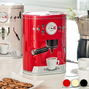Caixa Metálica Vintage | Máquina de Café