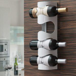 Prateleira Metálica Para Vinho | Capacidade Para 4 Garrafas