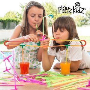 Playz Kidz | Jogo de Palhinhas Para Beber | 194 Peças