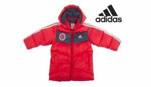 Adidas® Casaco Acolchoado Vermelho Junior | Carapuço Removível