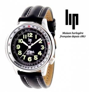 Relógio Lip® Bracelete Pele Preta | 3ATM | Marca Fundada em 1867