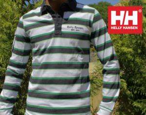 Helly Hansen® Polo Riscas Preto/Verde