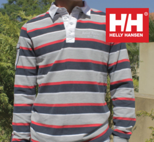 Helly Hansen® Polo Riscas Vermelha e Preto