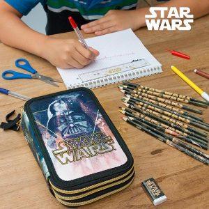 Star Wars | Estojo Escolar Com 43 Peças | Produto Licenciado