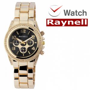 Relógio Raynell Woman   Mostrador Preto   Movimento Quartzo de Alta Qualidade